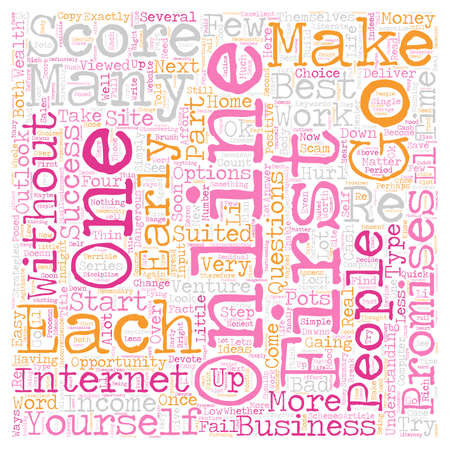 part of me: Can I Be A Success Online Part 2 text background wordcloud concept Vectores