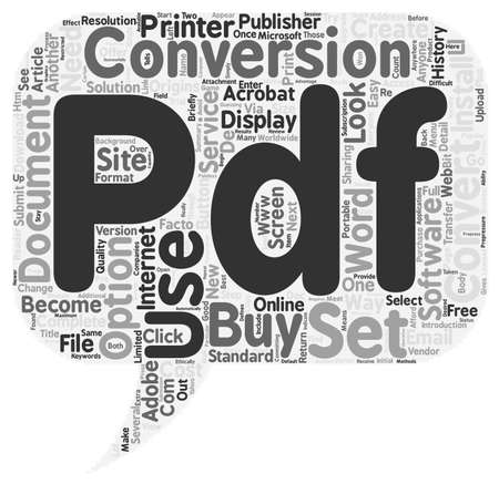 convert: Convert Document To PDF text background wordcloud concept Illustration