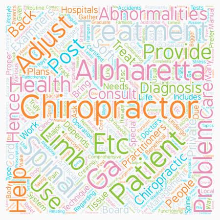 chiropractor alpharetta ga text background wordcloud concept