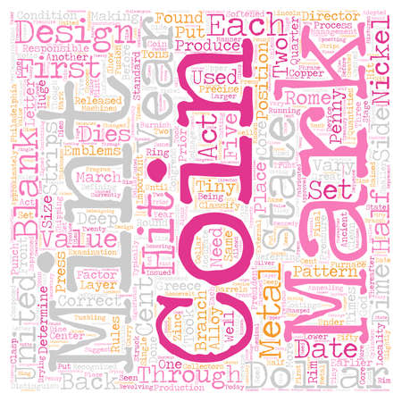 locality: BWCC what are remints and mint marks text background wordcloud concept