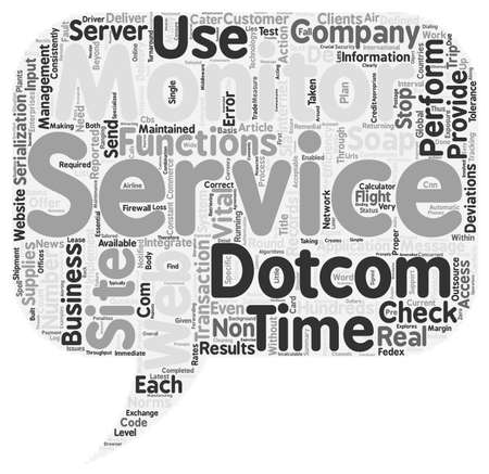 24x7: Can Web Service Companies Do Without x Dotcom Monitor support text background wordcloud concept Illustration