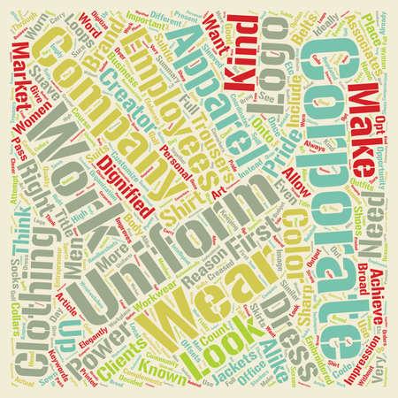 Corporate Apparel text background wordcloud concept Ilustração
