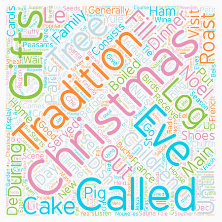 Christmas Article 8 text background wordcloud concept Illustration