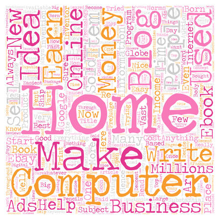 Business Idea With Your Own Home Computer text background wordcloud concept