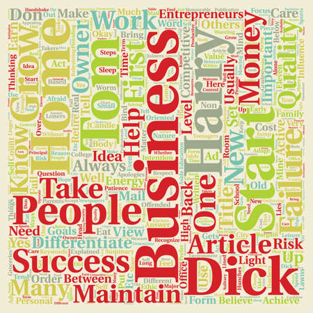 dick: Can any Tom Dick and Harry Start A Home Business text background wordcloud concept Illustration