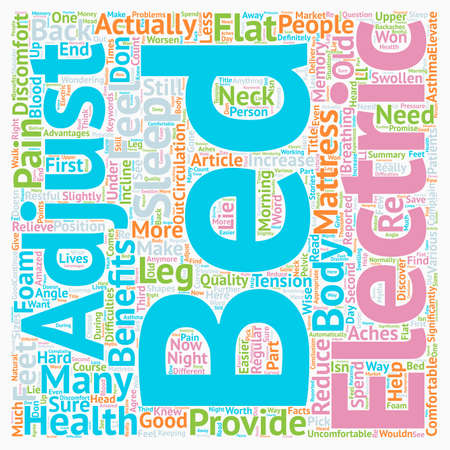 adjustable: Can Electric Adjustable Bed Relieve the Pain text background wordcloud concept