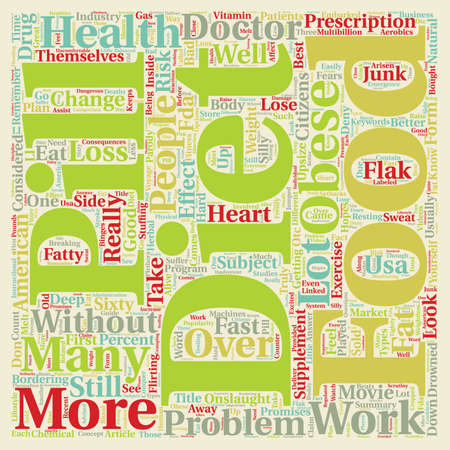 drowned: Are Diet Pills The Answer text background wordcloud concept Illustration