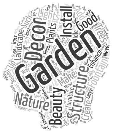 How to Spice Up Your Garden with Decor text background wordcloud concept Ilustração