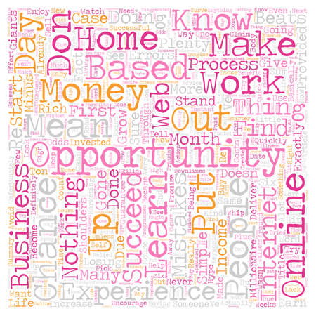 based: How To Succeed In Your Online Home Based Business Opportunity text background wordcloud concept