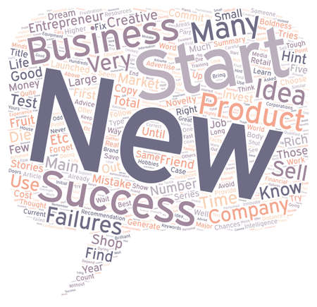 hints: How To Start A New Business Five Major Hints text background wordcloud concept Illustration