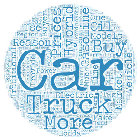 hybrid: hybrid cars and trucks text background wordcloud concept