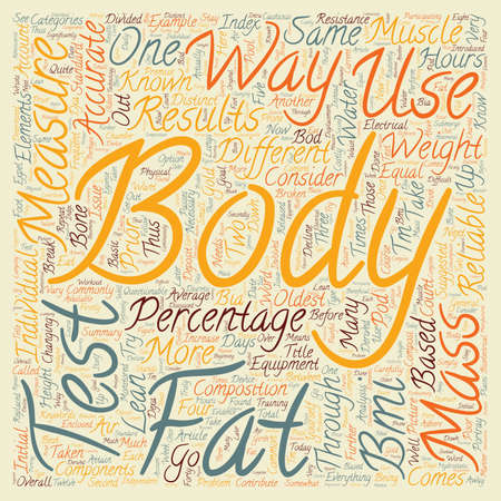suggested: How To Test Body Fat text background wordcloud concept Illustration