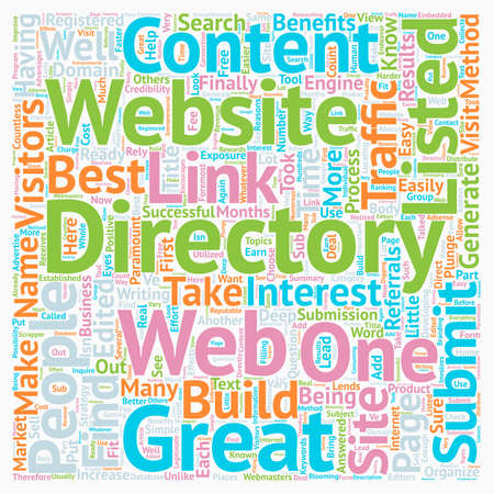 How To Submit To Web Directories text background wordcloud concept Illustration