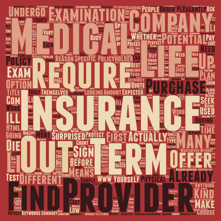How Does No Medical Term Life Insurance Work Text Background Wordcloud  Concept Vector