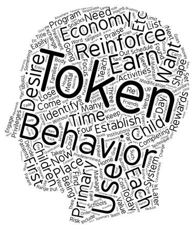 token: How To Use A Token Economy To Shape Your Child s Behavior text background wordcloud concept