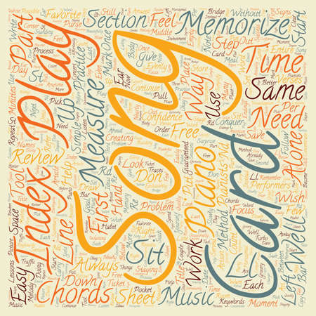 memorize: How To Memorize A Song The Easy Way text background wordcloud concept Illustration