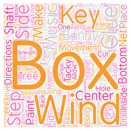 make summary: How to Make Your Own Unique Music Box text background wordcloud concept