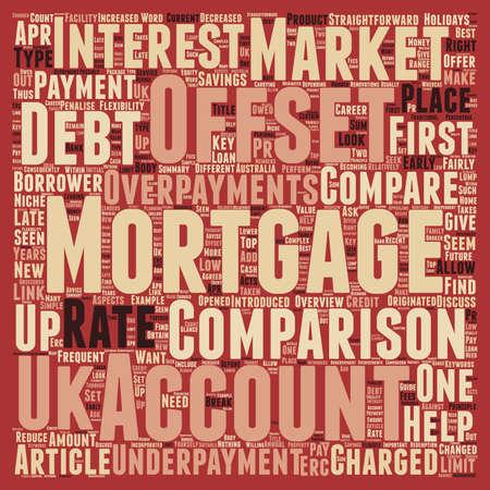 comparison: How To Perform An Offset Mortgage Comparison text background wordcloud concept Illustration