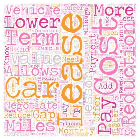 lease: How to Successfully Negotiate the Terms of Your Car Lease text background wordcloud concept