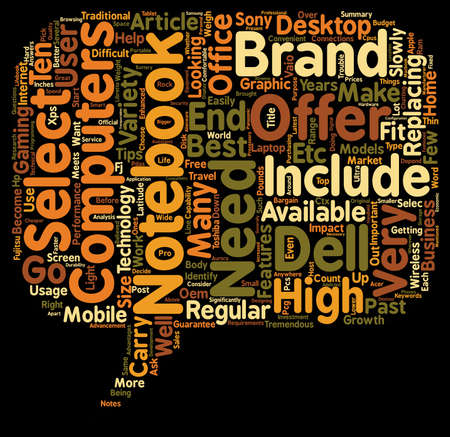 tremendous: How To Select The Notebook That Meets Your Requirements text background wordcloud concept Illustration