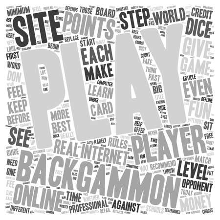backgammon: How to Play Backgammon Online text background wordcloud concept