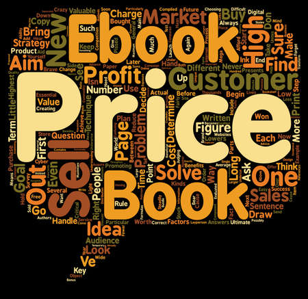 compiled: How to Price Your eBook text background wordcloud concept Illustration