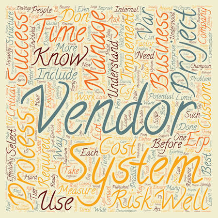 erp: How to Select and Implement an ERP System text background wordcloud concept