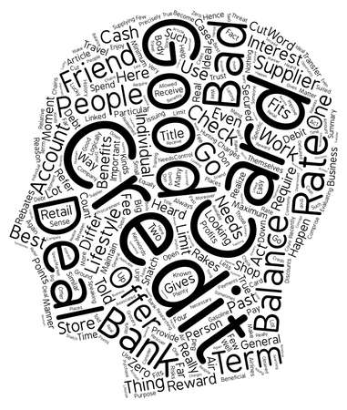heard: How To Snatch A Good Credit Card Deal Even If You Have Bad Credit text background wordcloud concept Illustration