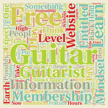 possibly: Guitar Membership Websites And The Danger Of The Entitlement Mindset text background wordcloud concept