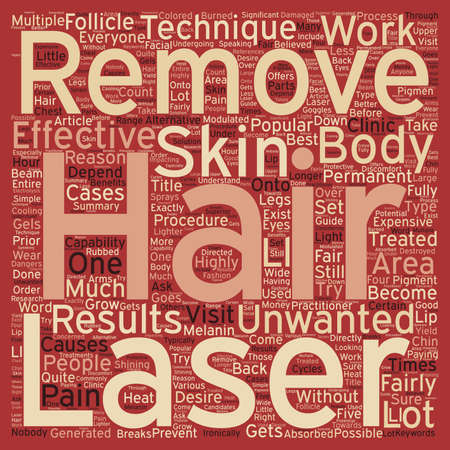 removal: How Does Laser Hair Removal Work text background wordcloud concept