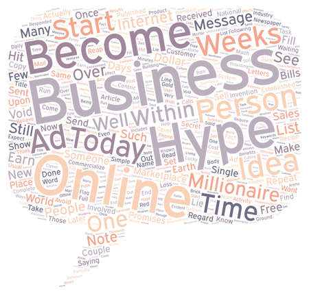 hype: Hype In Online Business text background wordcloud concept