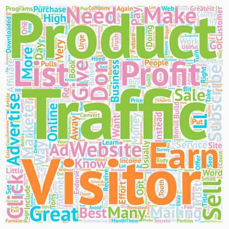 make summary: How To Turn Your Traffic Into Greatest Profit text background wordcloud concept Illustration