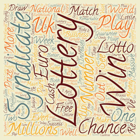 make summary: How To Play The Lottery For Free text background wordcloud concept