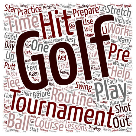 How To Prepare For A Golf Tournament text background wordcloud concept Ilustração