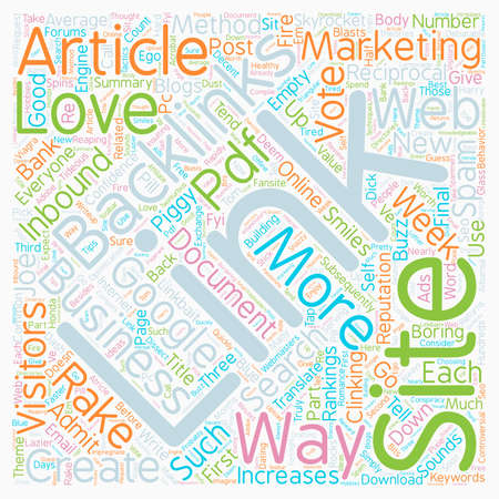 How To Rake In 10000 Backlinks In A Week text background wordcloud concept