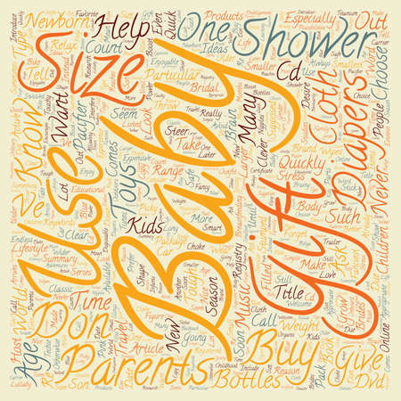 How Do You Know What To Give For A Baby Shower text background wordcloud concept
