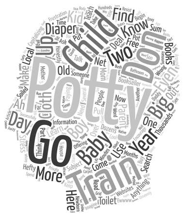 bookseller: How To Potty Train In Two Days text background wordcloud concept