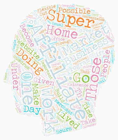 usual: How You Can Become a Online Super Affiliate text background wordcloud concept Illustration
