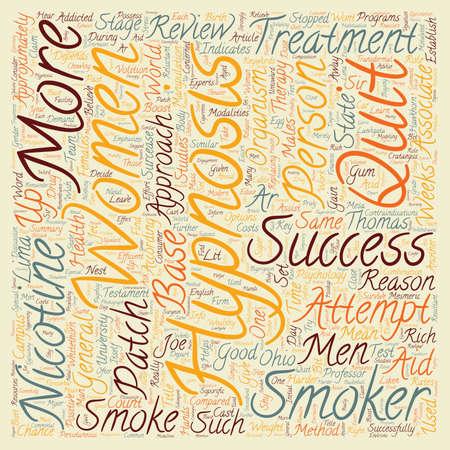 quit: Hypnosis Helps Men Quit text background wordcloud concept