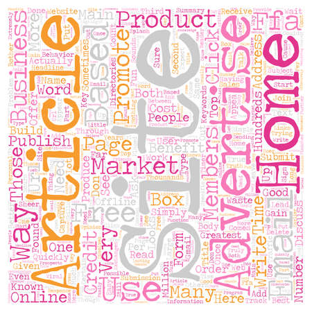 based: How To Market Your Home Based Business Online text background wordcloud concept Illustration