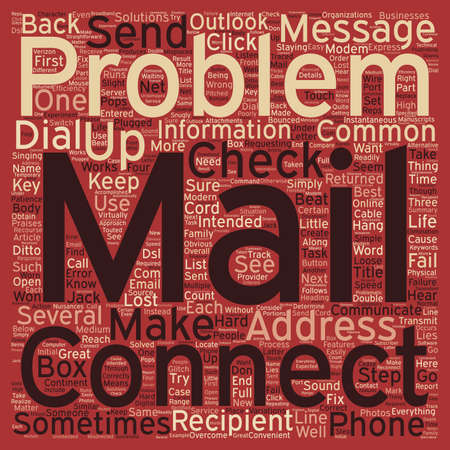 accelerate: Common E Mail Problems and What To Do About Them text background wordcloud concept