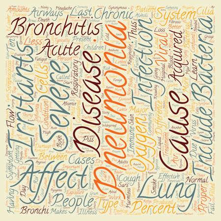 bronchitis: bronchitis pneumonia text background wordcloud concept