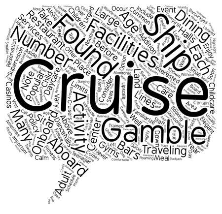 Common Cruise Ship Amenities 1 text background wordcloud concept