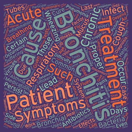 bronchitis: bronchitis picture text background wordcloud concept Illustration