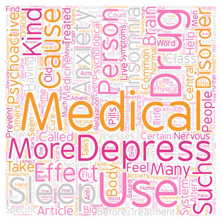 psychoactive: Common Psychoactive Treatments text background wordcloud concept