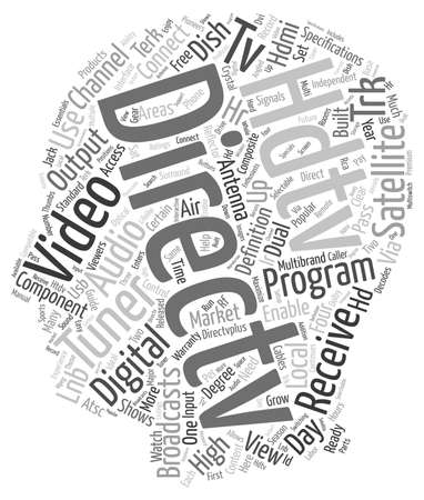 hdtv: directv hdtv text background wordcloud concept