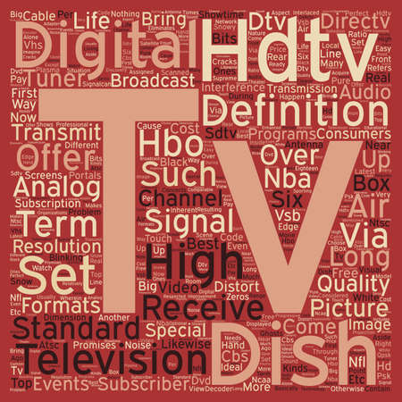 hdtv: dish tv hdtv text background wordcloud concept