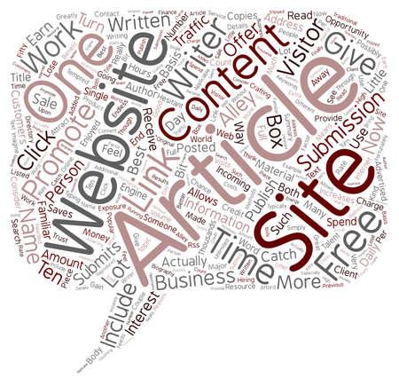 article: Article Sites text background wordcloud concept