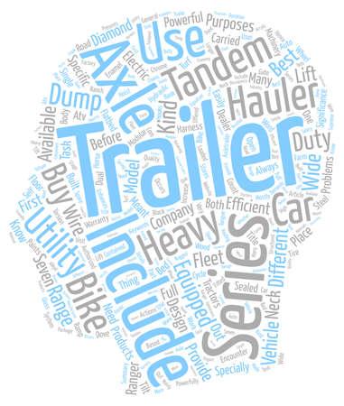 hauler: bike trailer car hauler dump trailers tandem axle trailer utility trailer text background wordcloud concept