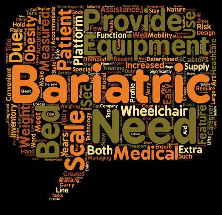 bariatric: Bariatric Scales text background wordcloud concept